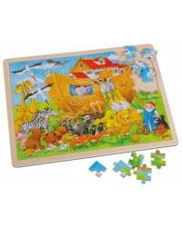 Puzzle bois sur l'Arche de Noé