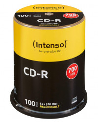 100 CD-R 80 Min/700 Mo Intenso