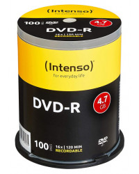 100 DVD-R 4,7 Go 16x Intenso