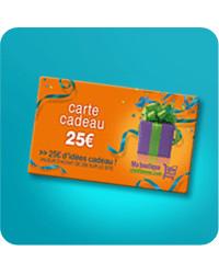 Carte cadeau - Bon de 25 €