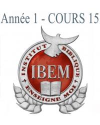 Cours 15: Les 5 Ministères